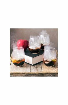 Main Image - Cathy's Concepts Skeletons Set of 4 Stemless Wine Glasses
