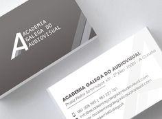Tarjetas de visita y tarjetas identificativas socios. Cliente: Academia Galega do Audiovisual #diseño #design