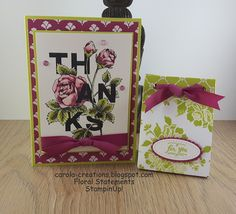 Carola Creations: Stampin'Up! Floral Statements  Hallo allemaal, Van...