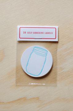 "2"" mason jar canning labels"