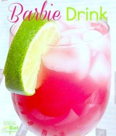 barbie drink Alcoholic yumminess: 1 oz Malibu Coconut Rum 1 oz vodka 1 oz Cranberry juice 1 oz Orange juice 1 oz Pineapple Juice Lime (When I say ounces, you can also just do parts and make sure they are all equal parts). Non-alcoholic Kiddy Barbie Drink: 1 oz Cranberry juice 1 oz Orange juice 1 oz Pineapple Juice 1 oz 7-UP OR Sprite Lime by Maiden11976