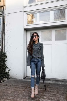 Get this look: http://lb.nu/look/8566195  More looks by Tuyet: http://lb.nu/kimballandkedzie  Items in this look:  H&M Top, Topshop Jeans, Seychelles Boots, Karen Walker Sunglasses