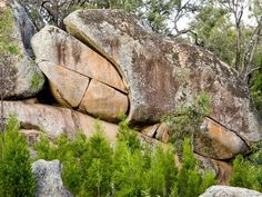 Frog Rock is a natural granite rock formation by the side of the road in the shape of a crouching frog, situated on the Ulan Road. The granite from th Frog Rock, Rock Formations, Granite, Granite Counters