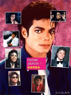 A cute pic collage of michael