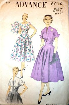 Advance 6016: the pattern is great; that bow fabric is to die for