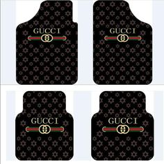 $155.32 Furry Gucci Universal Automotive Carpet Car Floor Mats Velvet 4pcs Sets - Black, Using beautiful soft high quality velvet, better texture, No irritating odor, durable wear, Winter does not distort, does not harden, moderate hardness and elastic, Can well prevent snow and mud flows inside the dirty floor, and can effectively protect the carpet, Very easy to clean, wash with water can easily wash away all the dirt.