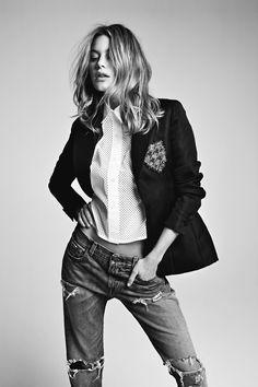 blazer + jeans.