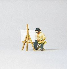 Individual Figure - Working People -- Landscape Painter - HO-Scale (psr28050) Preiser HO Scale Model Railroad Figures