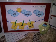 ملتقى الوسائل التعليمية للتربية الخاصة Arabic Alphabet Letters, Learn Arabic Alphabet, Alphabet Crafts, Classroom Games, Classroom Crafts, Preschool Crafts, First Grade Activities, Kindergarten Activities, Religious Education