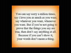 "Sometimes ""I'm sorry"" just isn't good enough."