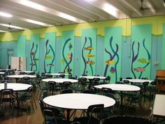 The Artworks Shop - Under the Sea Cafe  Douglas Elementary School #design #mural #foodservice