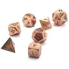 76b3b308d9 Evokems Set di Dadi per Giochi da Tavolo Polyhedron Metal Dragon e Dungeons  Dadi #dadirekt