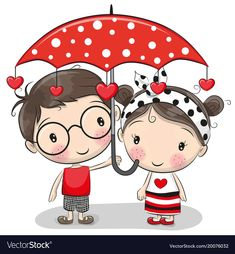 Cute Boy and girl with umbrella. Cute Cartoon Boy and girl with red umbrella royalty free illustration Cute Boy and girl with umbrella. Cute Cartoon Boy and girl with red umbrella royalty free illustration Cartoon Cartoon, Cute Cartoon Boy, Cartoon Characters, Boy And Girl Cartoon, Image Digital, Red Umbrella, Baby Doll Clothes, Bitty Baby, Art Mural
