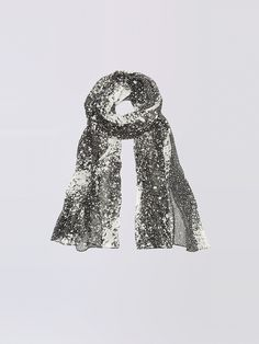 Add polish to any look with this printed silk scarf.