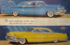 1955 Cadillac Ad ~ Eldorado Seville, Sedan de Ville