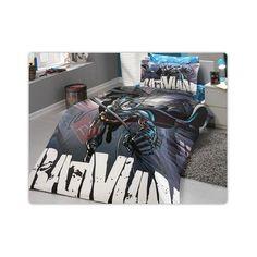 Batman Black Cotton Single Twin Duvet Cover Set 001 LICENSED MERCHANDISE 100%Cotton 1 Duvet cover          160cm x 220cm 1 Flat Bed Sheet     160cm x 240cm 1 Pillow Case             50cm x 70cm T004-B