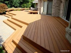 Completed deck project - custom design.