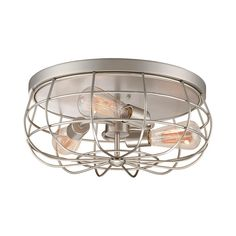 Industrial Cage Ceiling Light
