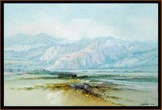 Artista: ARMANDO VILLALÓN. Paisaje Andino (2), 2013. Medidas: 80x120cms. Mixta