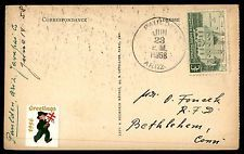 PAULDEN ARIZONA JUN 23 1958 SINGLE FRANKED POST CARD TO BETHLEHEM CONNECTICUT