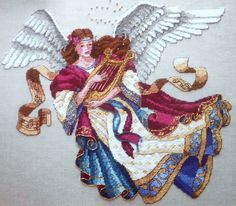 angel of song cross stitch pattern   ... ANGEL OF MUSIC James Himsworth - Counted Cross Stitch Pattern Chart