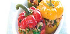 Plněné papriky kuřecím masem a rýží
