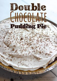 Double Chocolate Pudding Pie with only 4 ingredients!