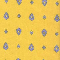 Yellow and blue small print fabric #498