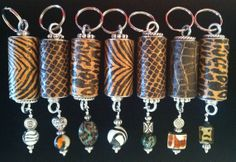 Animal Print Wine Cork Key Chains by WineCorkGoodness on Etsy Wine Craft, Wine Cork Crafts, Wine Bottle Crafts, Wine Cork Jewelry, Wine Cork Art, Wine Bottle Candles, Wine Bottle Corks, Recycled Wine Corks, Recycled Glass