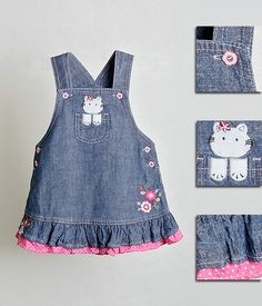 Sewing Baby Clothes, Baby & Toddler Clothing, Baby Sewing, Toddler Outfits, Doll Clothes, Kids Outfits, Frocks For Girls, Dresses Kids Girl, Kids Dress Patterns