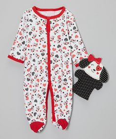 Take a look at this Red Puppy Footie & Puppet - Infant by Duck Duck Goose on #zulily today!