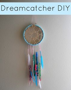 Running With A Glue Gun: Dreamcatcher DIY