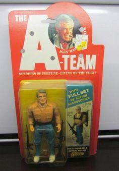 "Vintage John ""Hannibal"" Smith Galoob A-Team Action Figure MOC - Mint on Card New"