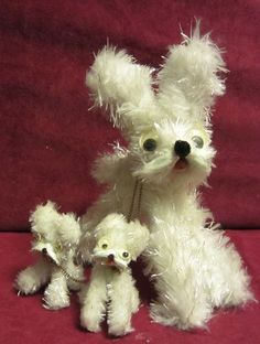 Vintage Pipe Cleaner Dogs Dog with Puppies on Chain Japan | eBay