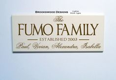 Wood Family Name Sign with Established Date Customized Last Name Wedding Gift Wall Plaque for Home Decor