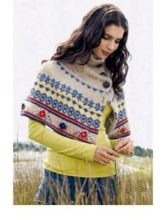 "NWOT Rare Anthropologie Moth ""Fairisle Capelet"" Sweater Poncho S XS #Anthropologie #Capelet"