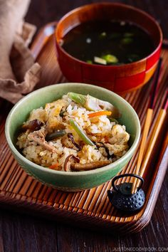 Rice with Mountain Vegetables (Sansai Gohan 山菜ご飯) #JapaneseFood #Sansai #Gohan #Vegetarian #Vegan | Easy Japanese Recipes at JustOneCookbook.com