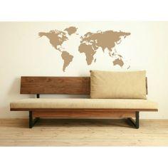 Muursticker - Interieursticker Wereldkaart - Worldmap