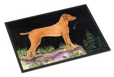 Starry Night Vizsla Indoor Outdoor Mat 18x27 Doormat