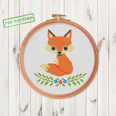 Fox Cross Stitch pattern Woodland Animal Cross Stitch Forest
