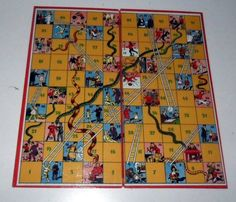 Vintage British Snakes and Ladders