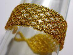 seed bead weaving bracelet cs-crafts pulseira de miçangas de vidro