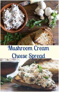 Mushroom Cream Cheese Spread a fast and easy fresh mushroom dip or spread, serve with crackers, bread or bruschetta. The Perfect…