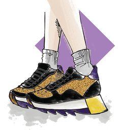 5 tendências de calçados para a primavera/verão 2018: tênis Spring Summer 2018, Wish, Women's Work Fashion, Women's, Trends