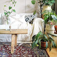 #cozy #livingroom #living #boho #rustic #scandi #nordic Nordic Home, Scandinavian Home, Nordic Style, Cozy Living Rooms, Living Room Decor, Hygge Home, Old Furniture, My Happy Place, Indoor Plants