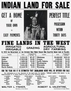 The wanton sale of indigenous land