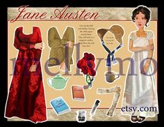Jane Austen paper doll jane austen