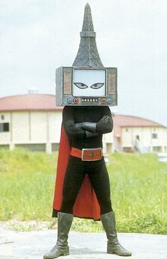 """japanese monster """"Fear me!"""" The dreaded Vacuum-tube Radio-Tower Man! Will do First Communion parties and Bar Mitzvahs Totems, Japanese Monster, Retro Futurism, Godzilla, Science Fiction, Sci Fi, Character Design, Images, Cosplay"""
