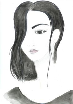 Watercolor fashion illustration print watercolor by Zoia on Etsy, $18.00