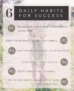 6 Daily Habits for Success // rachelgadiel.com